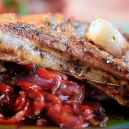 Pork Chop with Sweet and Sour Peppers