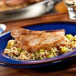 Pork Chops & French Onion Rice