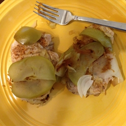 Pork Chops with Apples, Onion and Sauerkraut