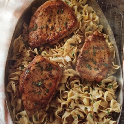 Pork Chops with Creamy Mustard Noodles (Taste of Home Quick Fix pg. 35)