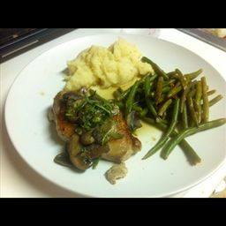 Pork Chops with Wild Mushrooms
