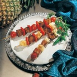 Pork Kabobs with Tequila and Pineapples