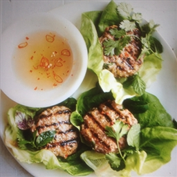Pork Patties, Vietnamese - with dipping sauce