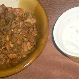 Pork Souvlaki with Tzatziki
