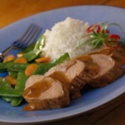 Pork Tenderloin with Hoisin-Raisin Sauce