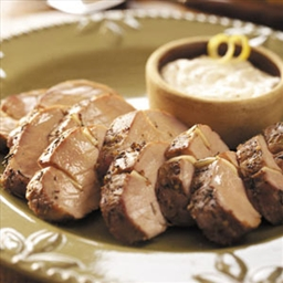 Pork Tenderloin with Horseradish Sauce
