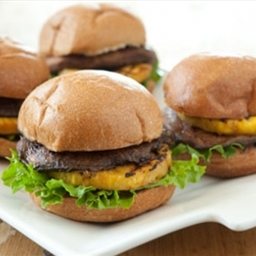 Portobello and Pineapple Teriyaki Veggie Burgers