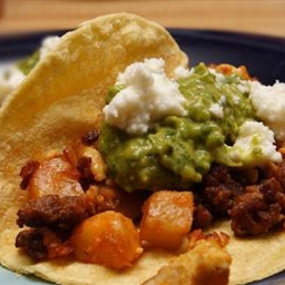 Potato-chorizo Tacos With Avocado Salsa