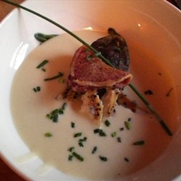 Potato-Cream Soup with Smoked Trout