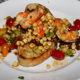 Prawn, Chorizo and Corn Summer Bread Salad