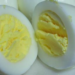 Pressure cooker eggs