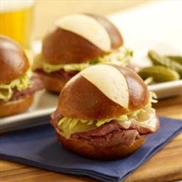 Pretzel Reuben Sandwich