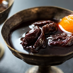 Prunes Poached in Red Wine