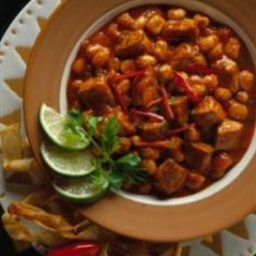 Pueblo Pork and Hominy Stew