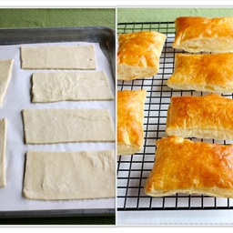 puff pastry rectangles
