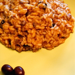 Pumpkin and Olives Risotto