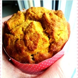 Pumpkin and raisin muffin with oat flour (eggless)