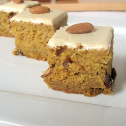 Pumpkin Bars with Dulce de Leche Cream Cheese Frosting