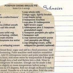 Pumpkin Creme Brulee Pie