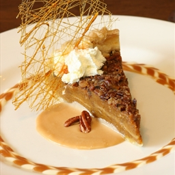 Pumpkin-Pecan Pie with Whiskey-Butter Sauce
