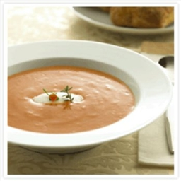 Quick Tomato Soup with Goat Cheese