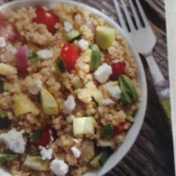 Quinoa:  Quinoa Salad w/Grilled Vegetables & Feta