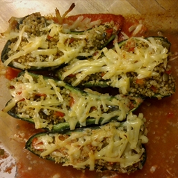 Quinoa-Stuffed Poblano Chiles