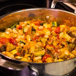 Ratatouille, Roasted vegetable & white bean