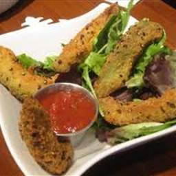 RAW Avocado Fries and Ketchup