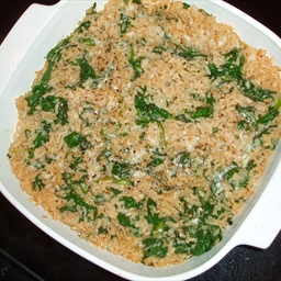 Rice with Spinach Herbs and Cheese