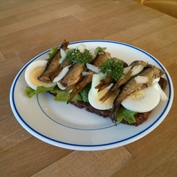Riga Sprats on rye bread