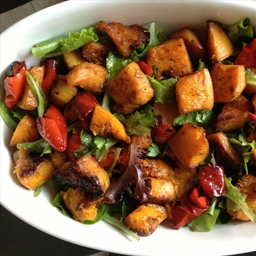 Roast Butternut Salad with African Dressing