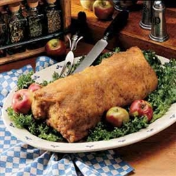 Roast Pork with Apple Topping