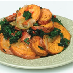 Roasted Yams and Kale