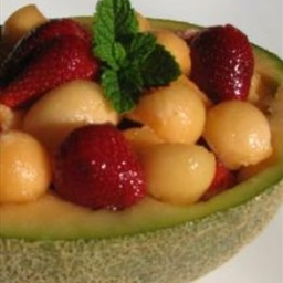 Rockmelon and Strawberry Salad