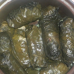 Rolled Stuffed Grape Leaves (Lebanese)