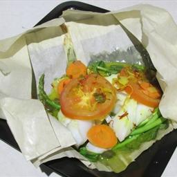 Saffron Cod en Papillote