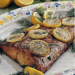 Salmon Steaks with Lemon Dill Sauce