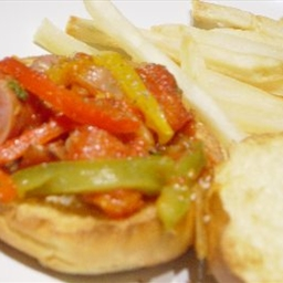 Sausage And Pepper Heroes