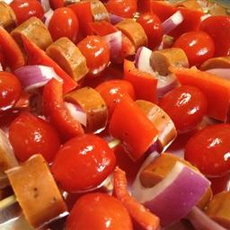 Sausage and Pepper Skewers