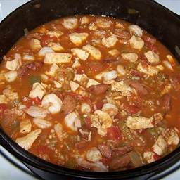 Sausage & Shrimp & Chicken Jambalaya