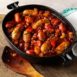 Sausages and Beans Casserole