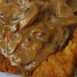 Sauteed Chicken Breast with Sherried Mushroom Cream Sauce