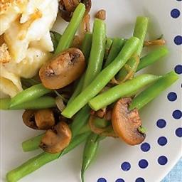 Martha Stewart's Sauteed Green Beans and Mushrooms