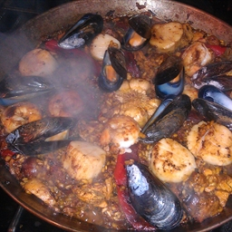Seafood, Sausage, and Chicken Paella