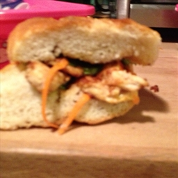 Sesame Chicken and Asian Coleslaw Sandwiches