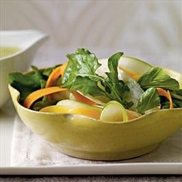 Shaved Fall Vegetable Salad with Cider Vinaigrette