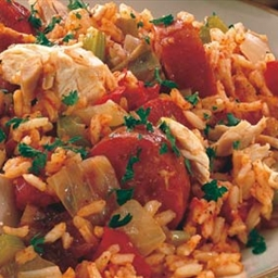 Shrimp and Chicken in Tomato Sauce