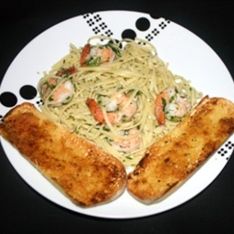 Shrimp Linguine in Clam Sauce