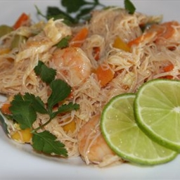 Shrimp, Mango and Peanut Rice Noodle Salad